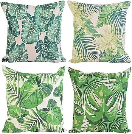 US Vendeur-Lot de 2 plante tropicale Hibiscus Floral Toucan Housse de Coussin Intérieur