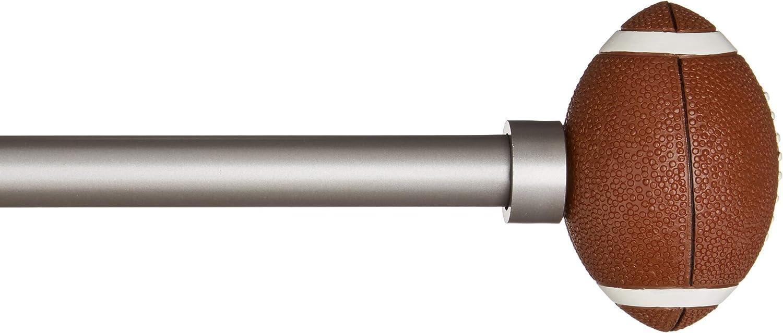 Basics Tringle /à rideau d/écorative diam/ètre 1,6 cm avec embouts balle de Baseball 71 cm