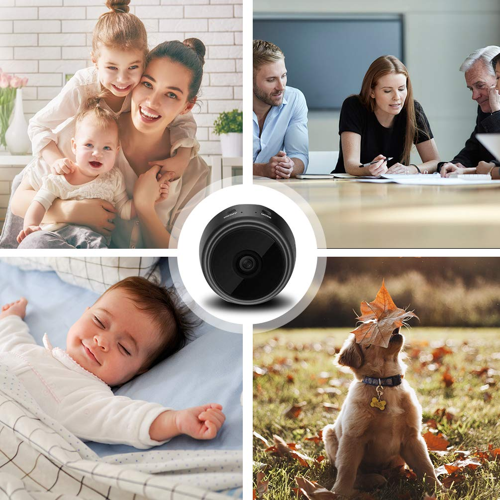 Hidden Camera Mini Spy Camera Wireless HD 1080P Mini Hidden Camera Portable Home Security Cameras Nanny Cam with Motion Detection and Night Vision(2019 Update) by Techworld Collections (Image #5)