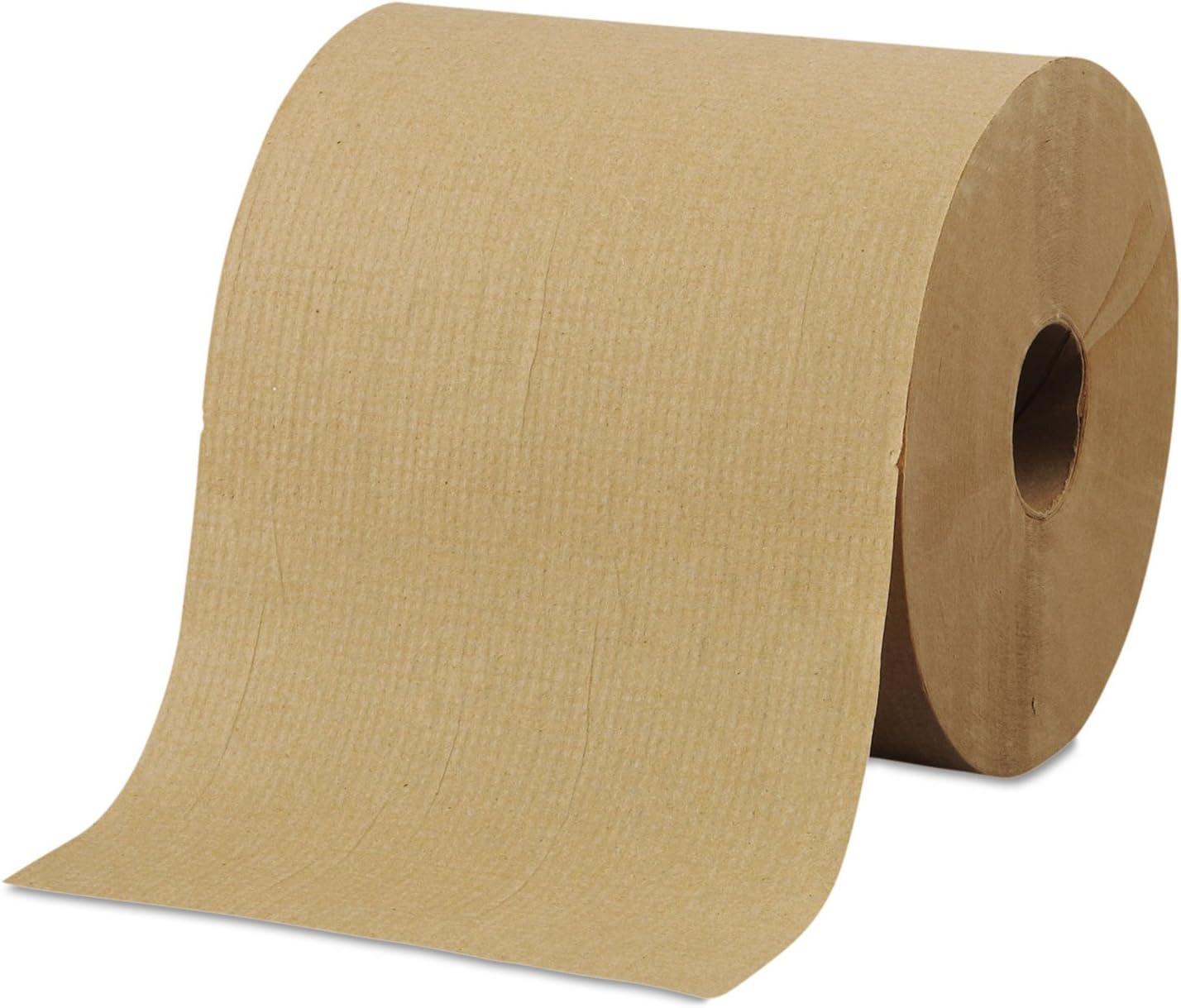 """GEN Hardwound Roll Towels White 8/"""" x 800 ft 6 Rolls//Carton"""