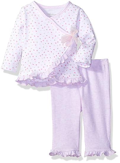 eccfa445d00 Amazon.com: Sterling Baby by Vitamins Baby Girls' Ruffle Trim 2 Piece Pant  Set: Clothing