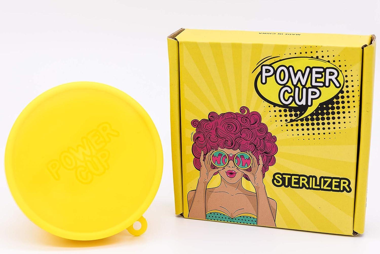 The Power Steriliser - Taza plegable para limpiar, almacenar y esterilizar todo tipo de vasos menstruales, 100% silicona médica, taza plegable para ...