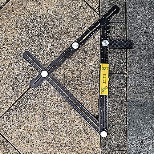 artesanos carpinteros herramientas de plantilla mejoradas constructores arquitectos Regla de medici/ón multi/ángulo regla multifuncional de aleaci/ón de aluminio para artesanos