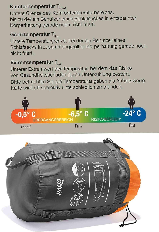 weich warm Crivit Schlafsack Rei/ßverschluss Links