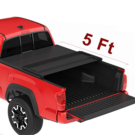 Oedro Upgraded Soft Tri Fold Truck Bed Tonneau Cover On Top