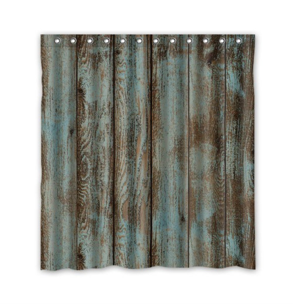 Marvel shower curtain - Waterproof Decorative Rustic Old Barn Wood Art Shower Curtain 66 X72 10 Clothing