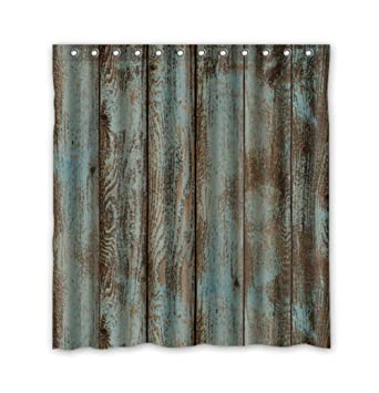 Waterproof Decorative Rustic Old Barn Wood Art Shower Curtain 66u0026quot ...