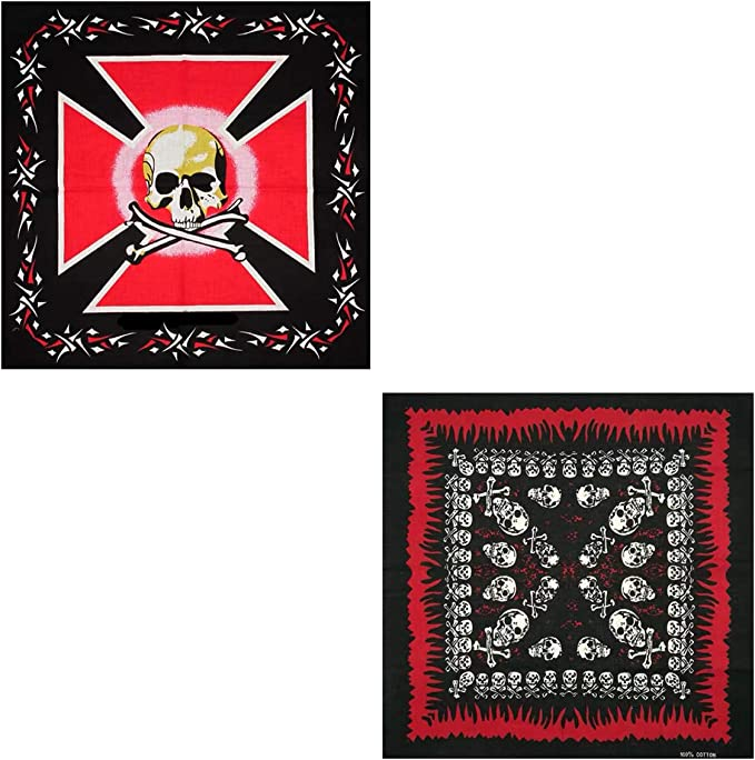 Cisne 2013, S.L. Pack de Dos Pañuelos Bandana de Algodón ...