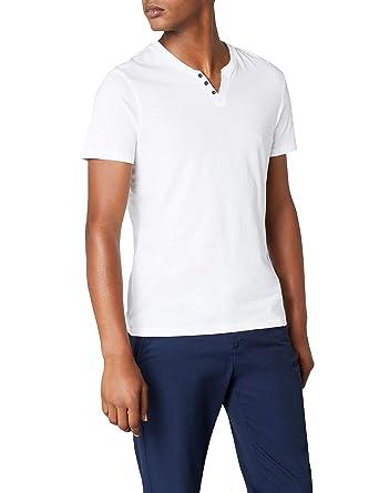 a672d836bba Celio Sebet - T-shirt - Uni - Col à boutons - Manches courtes ...
