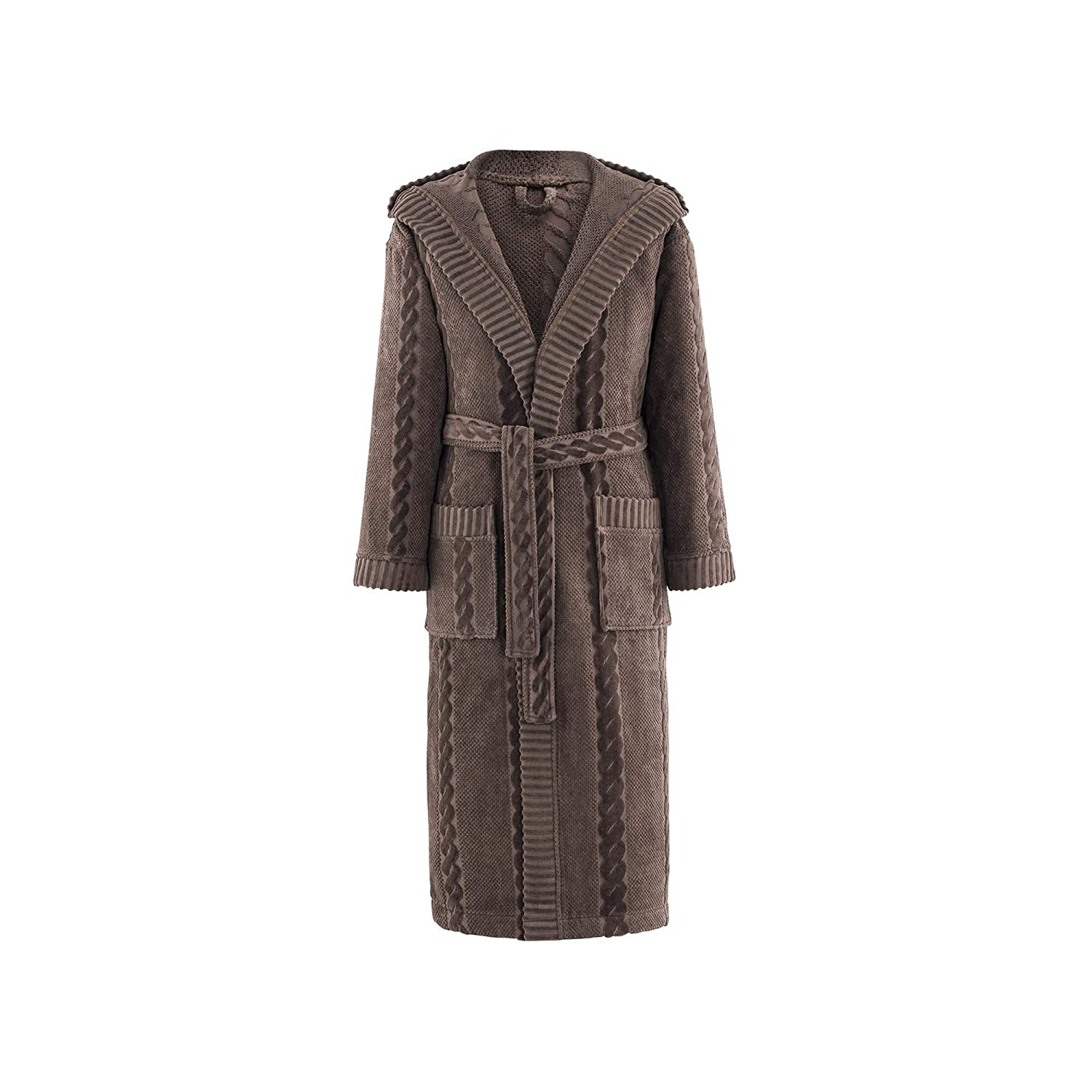 Togas Edmond BN Hooded Bathrobe 1 Items 450 100/% Cotton Brown