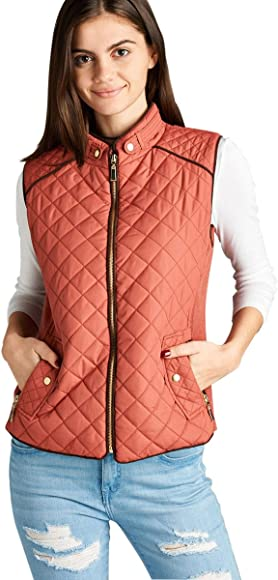 f1b0487425 Active USA Quilted Padding Vest With Suede Piping Details Sizes from S to  3XL (Dusty