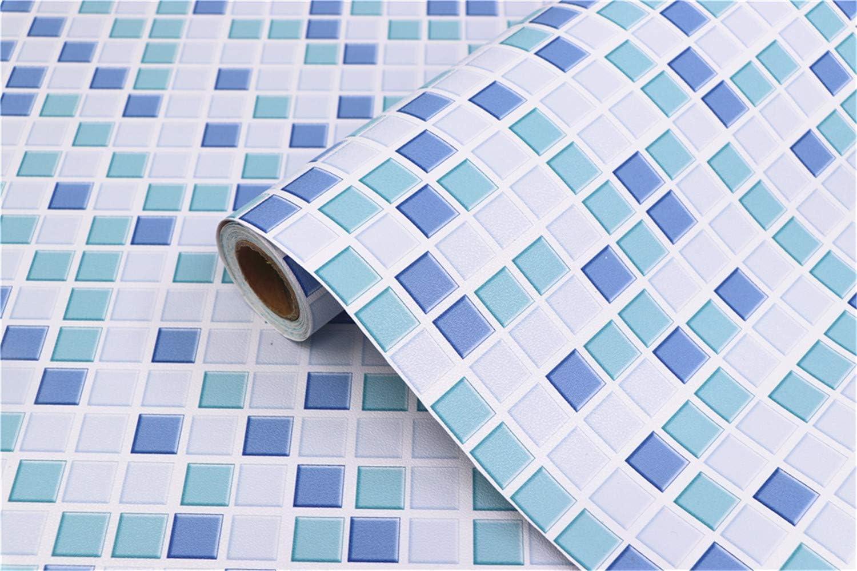Mosaic Adhesive Wallpaper Thick Self-Adhesive Removable Peel 15.7