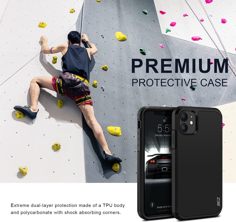 BEZ Funda iPhone 11, Carcasa Protectora para iPhone 11 Antideslizante Ultra Híbrida Gota Protección, Cover Anti-Arañazos con Absorción de Choque ...