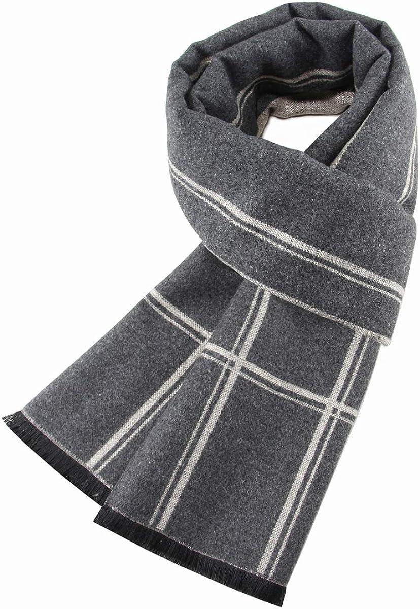Ueither Uomo Sciarpa Autunno Invernale Sciarpa Termica Calda Morbida Sciarpa Casual Business