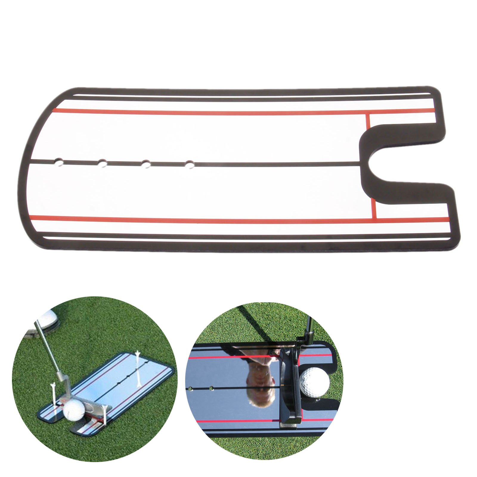 Golf Swing Straight Practice Golf Putting Mirror Alignment Training Aid Swing by MUXSAM (Image #5)