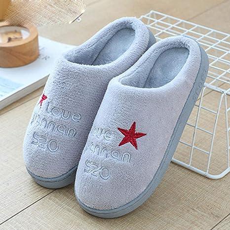 Sxjszhkjg Pantuflas de casa cómodo,Zapatillas de casa de ...