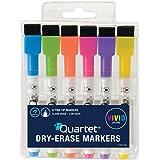 Quartet Magnetic Dry Erase Markers 6PK, Fine Point, Assorted Colors, ReWritables (51-659312Q)
