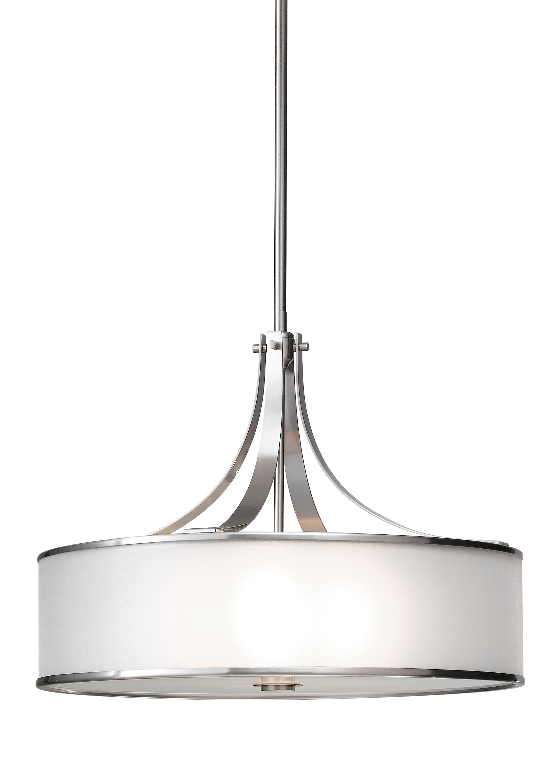 Feiss F2343/4BS Casual Luxury 4 Light Large Pendant, Brushed Steel