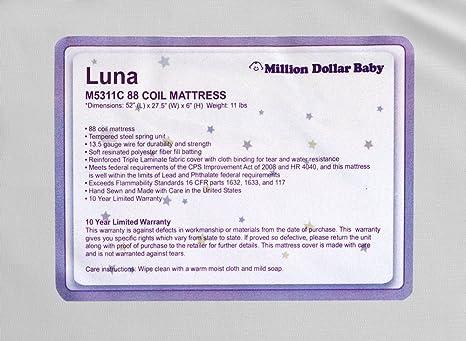Amazon.com: DaVinci Luna Ultra firme Cuna Colchón, talla ...