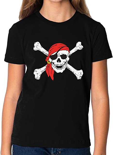 Jolly Rodger Skull Kids T shirts Shirts Pirate Skull Youth Day of Dead