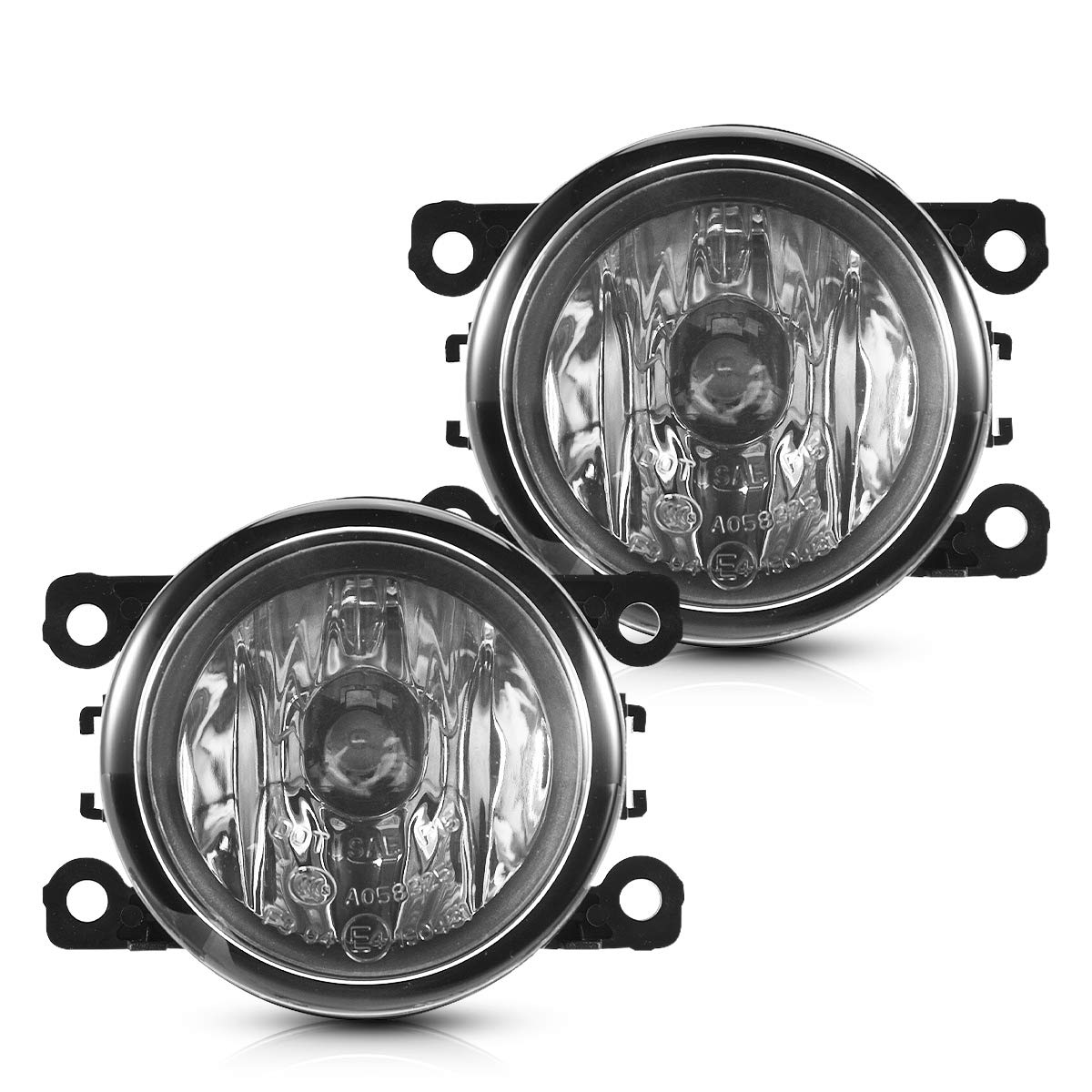 2009-13 Suzuki Swift Replacement Fog Light Assembly for 2004-08 Jaguar S//X-type with H11 12V 55W Halogen Bulbs Clear Lens Torchbeam Fog Lights for 2010-2016 Honda Acura