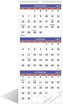 Amazon.: 2020 2021 Calendar   3 Month Calendar(Need to Open