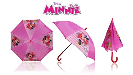 Paraguas con motivo de MINNIE MOUSE 65 x 76 cm color rosa - DISNEY 3614