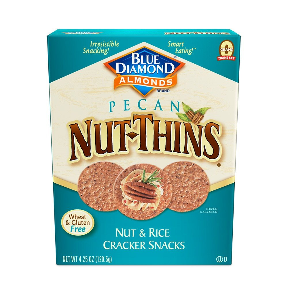 Blue Diamond Gluten Free Pecan Nut-Thins Cracker Crisps, 4.25 Ounce (Pack of 12)
