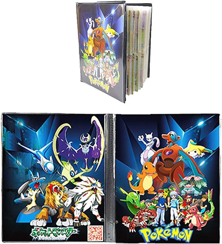 Peut contenir jusqu/à 432 cartes Classeur Compatible Avec Pokemon Portfolio Compatible Avec Pokemon Album Compatible Avec Pokemon Porte Compatible Avec Carte Pokemon 9P-Sun/&Moon