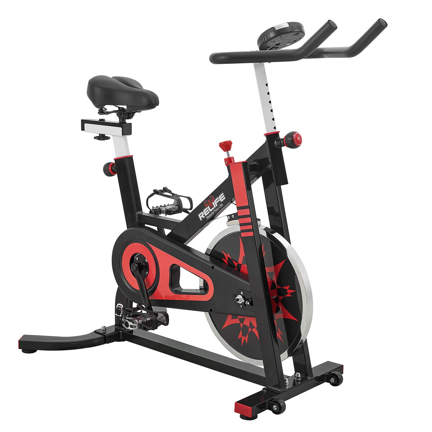 RELIFE REBUILD YOUR LIFE Spin Bike Stationary Indoor Cycling Gym Resistance Workout Home Gym Fitness Machine Exercise Bike by RELIFE REBUILD YOUR LIFE (Image #2)