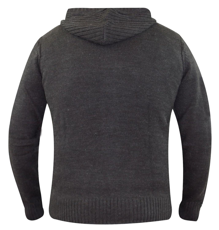 New Mens Kangol Designer Jumper Zipper Hooded Cardigon Knitwear Sweater Top