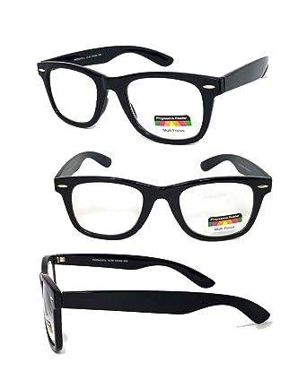 532a4f5c60 Generic Reading Glasses No Line Progressive Clear Lens Retro Square Frame  New Bifocal (Black
