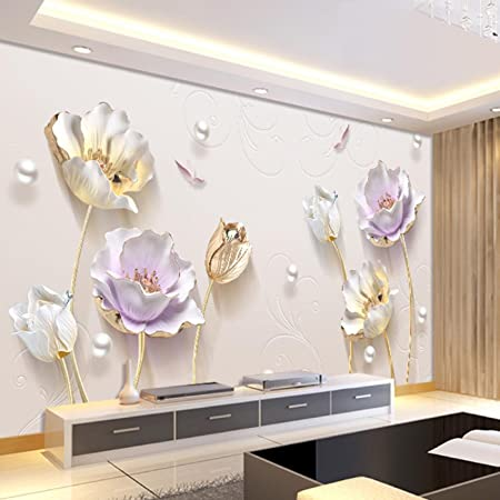 WAYMX Mural Tv Background Wall Paper Modern Living Room Home ...