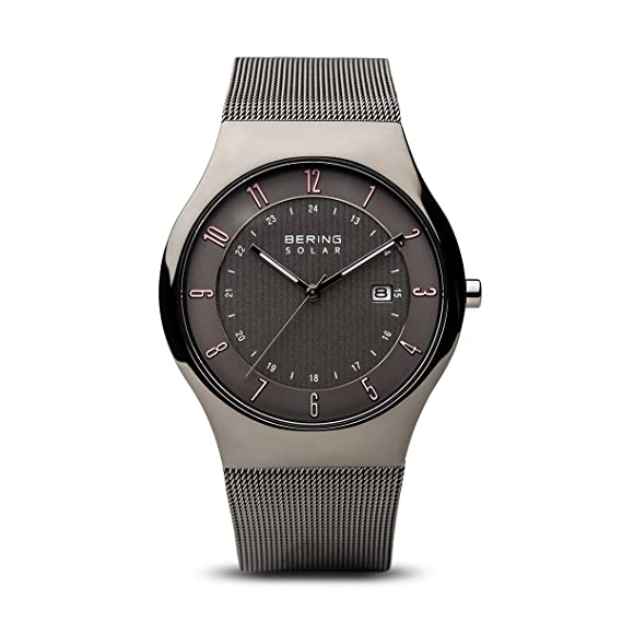 BERING Reloj Analógico para Hombre de Energía Solar con Correa en Acero Inoxidable 14640-077: Amazon.es: Relojes