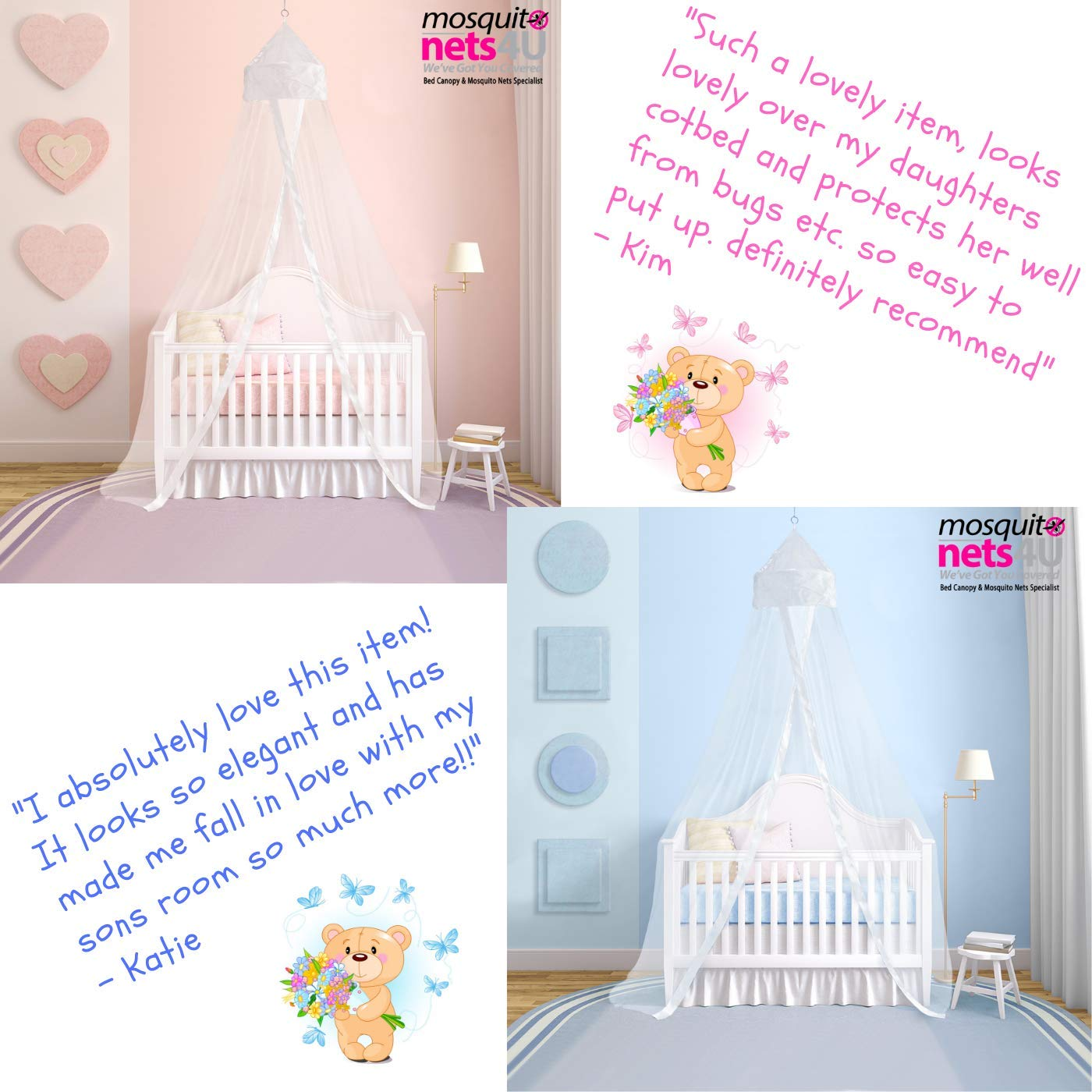 White Mosquito Nets 4 U Baby-white001 Baby Canopy Insect Protection