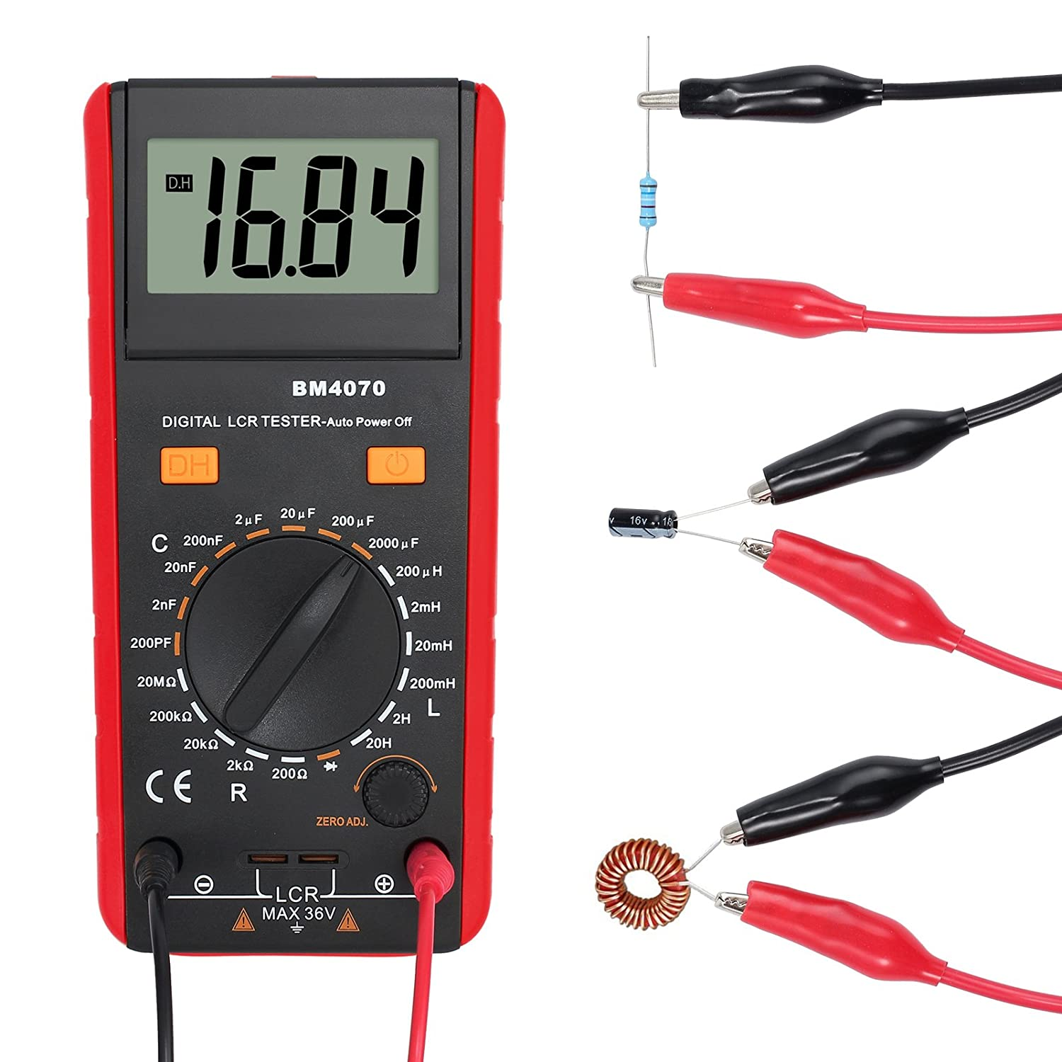 Proster Lcr Meter Lcd Capacitance Inductance Resistance Tester Home Images Lc Circuit Coil Capacitor Measuring Self Discharge With Overrange Display