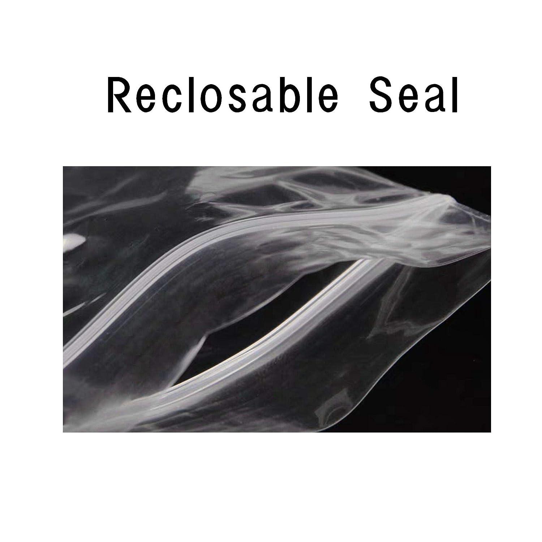 5 x 20cm 100pcs Long Jewelery Plastic Bags 100pcs 8 x 20//5 x 20cm Clear Zipper Reclosable Necklace Bags with Hang Hole Poly Zip Lock Storage Bags