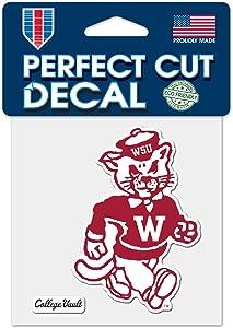 "WinCraft Washington State Cougars WSU College Vault C4 4""x4"" Perfect Cut Die Cut Decal"