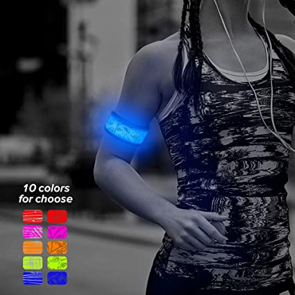 One Size Fits Most Blue LED Light-Up Bracelet Wristband with 4 Modes