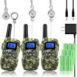 Wishouse Rechargeable Walkie Talkies for Kids with Charger Battery, Two Way Radio Family Talkabout for Adult Long Range…