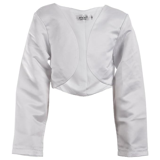 Prelest Prelest Festliche Mädchen Bolero Jacke in Weiß oder Schwarz für Fast  jedes Kleid Mädchen  Amazon.de  Bekleidung adad2a5449