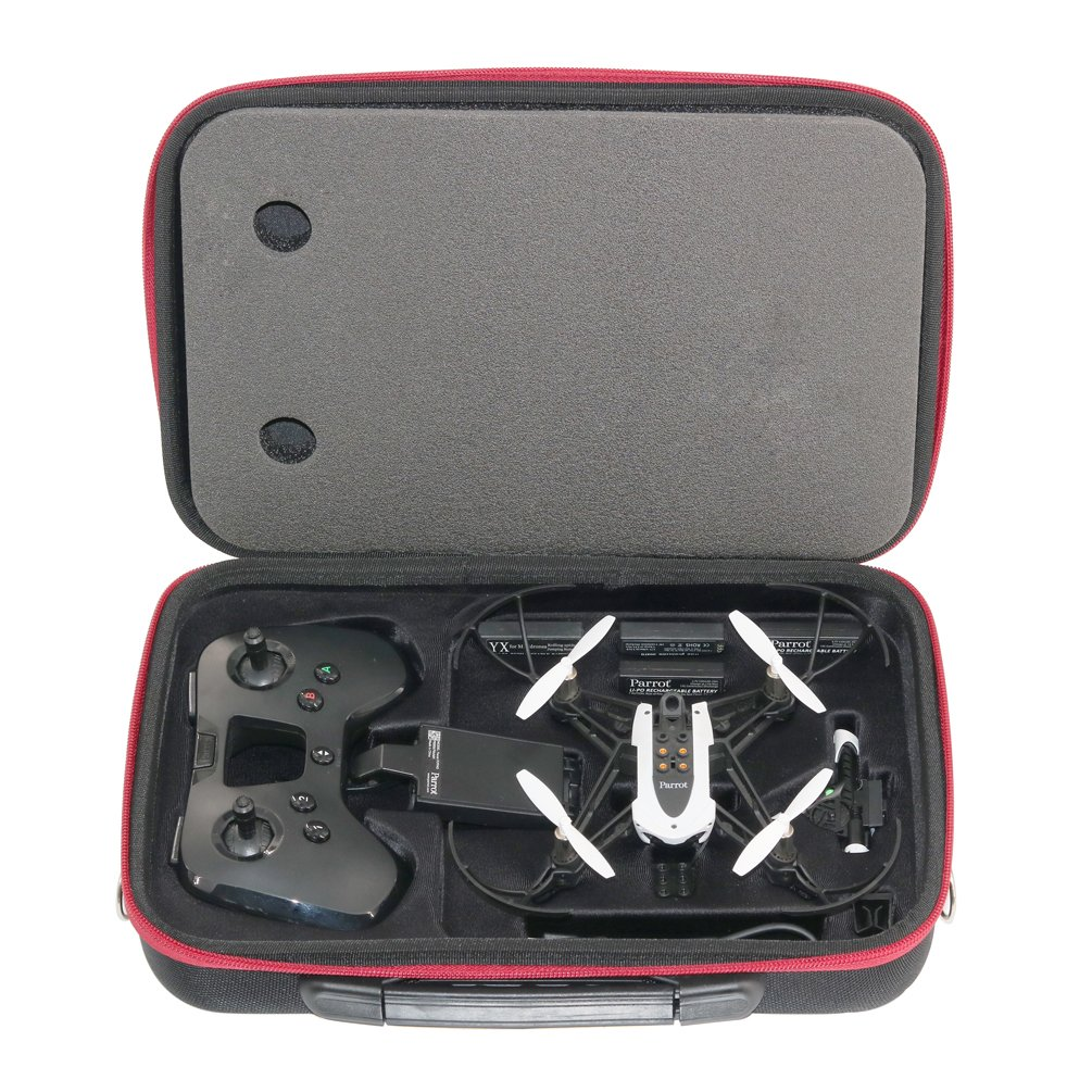 RC GearPro Hardshell Shoulder Case Compatible for Parrot Mambo Drone and Flypad Remote Controller Waterproof Carrying Case Compatible for Parrot RC Mambo Minidrone