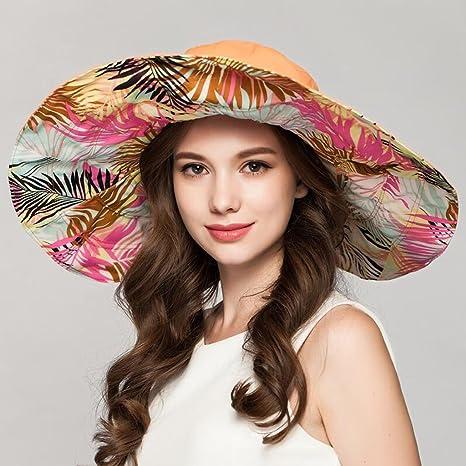 9ee7c2473edc0 YXINY Viseras Sombreros Mujer Primavera Y Verano Elegante Sombrero De Paja  Plegable Protección Solar Sombrero para
