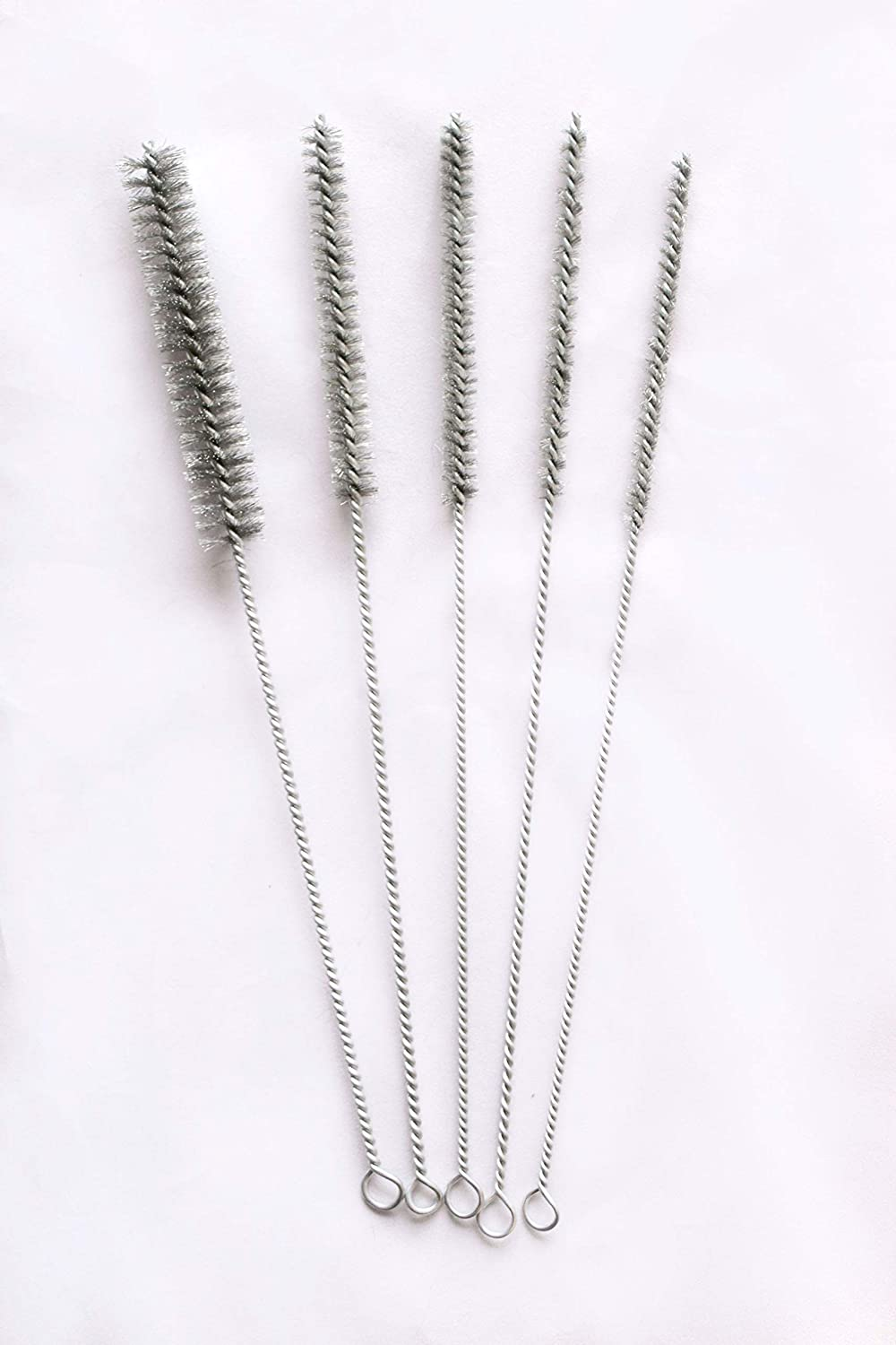 Nylon Stainless Steel Bristle 12 Long Size 1//4 to 3//4 Diameter by PMD Products 15pc Tube Bottle Wire Brushes Brass