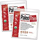 Julian Bakery Paleo Thin Wraps | USDA Organic | Gluten-Free | Grain-Free | Low Carb | 6 Net Carbs | 2 Pack | 14 Individual Wraps