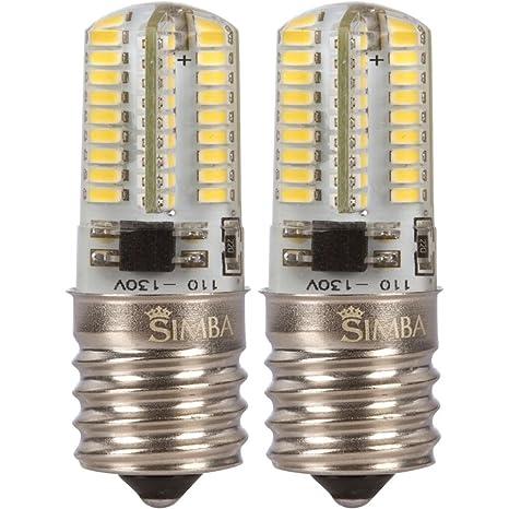 2 Pack] Simba iluminación TM LED E17 4 W 72smd3014 bombilla para ...