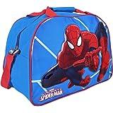 Perletti - Borsa Sportiva Bambino Marvel Spiderman,  Borsone Sport per Palestra Viaggio e Tempo Libero con Stampa Uomo Ragno, Azzurro, 40x29x20 cm