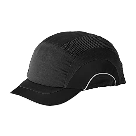 12c222129d9bf2 Image Unavailable. Image not available for. Color: HardCap A1+  282-ABS150-11 Short Brim Baseball Style Bump Cap ...