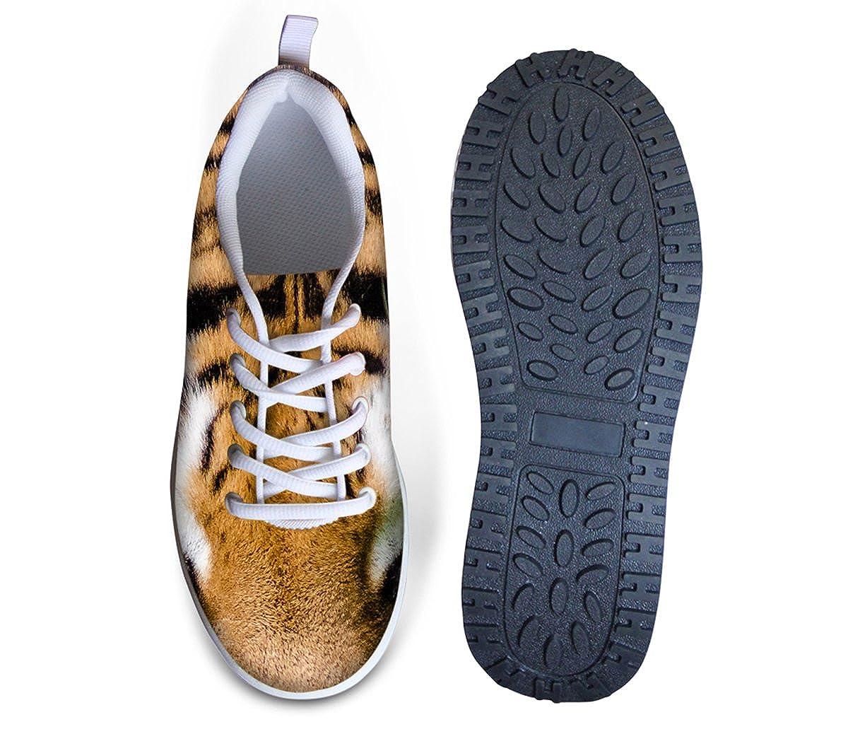 Cool 3D Animal Fur Print Wedge Daily Walking Shoe Women Workout Running Sneaker