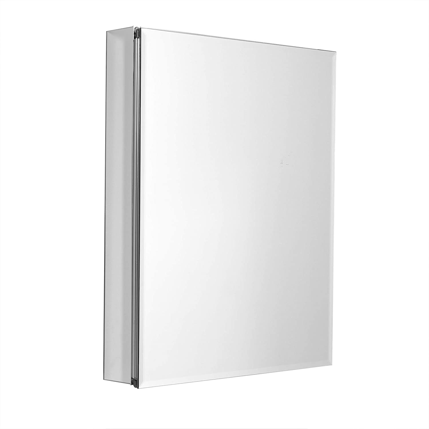 ZPC Zenith Products Corporation, Frameless Designer Series by Zenith Aluminum Beveled Mirror Medicine Cabinet, 24 x 30, 24